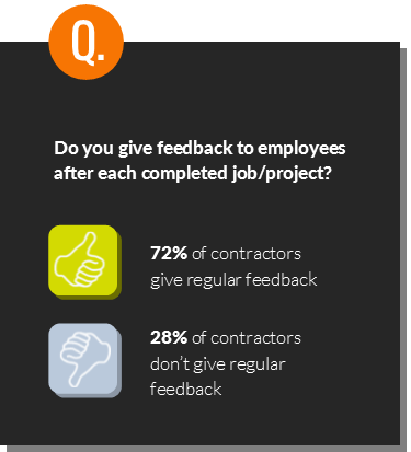 construction employee feedback statistic