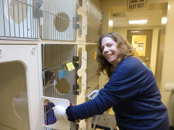 Theresa Davidson volunteers at Maryland SPCA