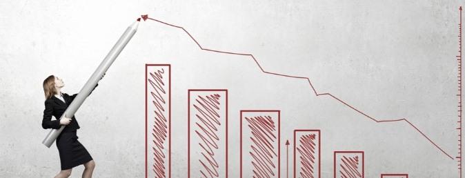 businesswoman graph