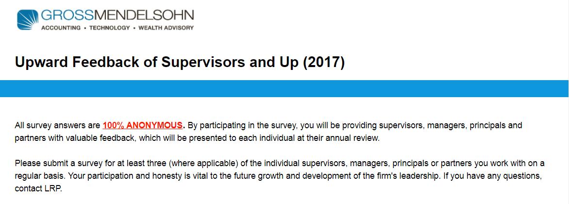 upward feedback survey